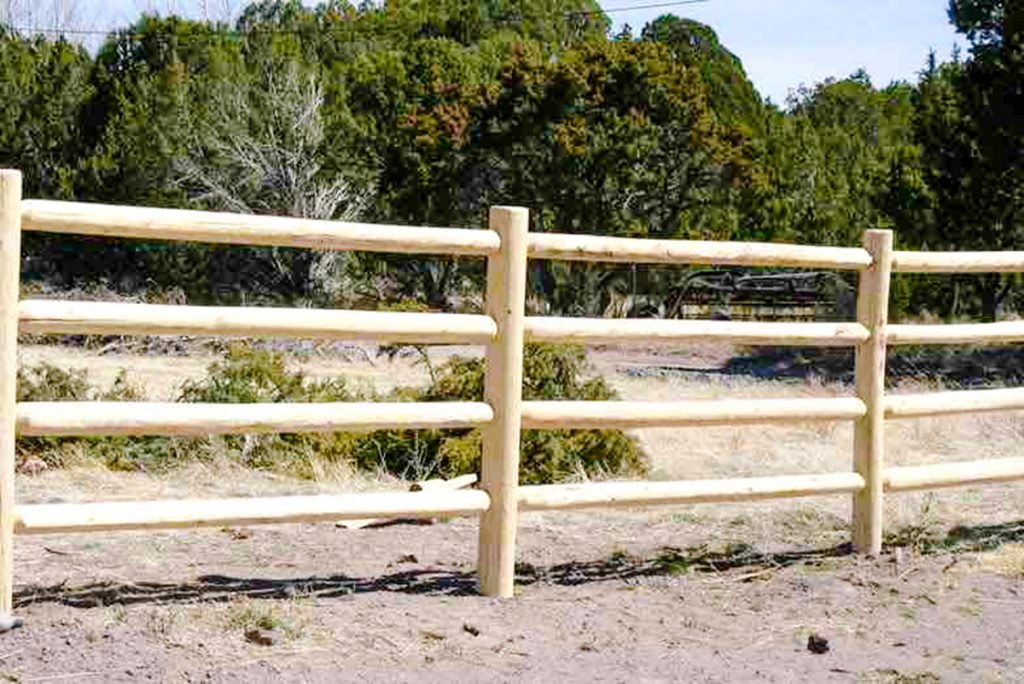 Log Pole Fence ~ Fencing arizona log timberworks
